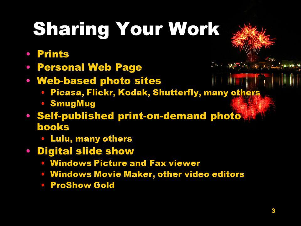 24 Narration ProShow attaches narration to each slide.