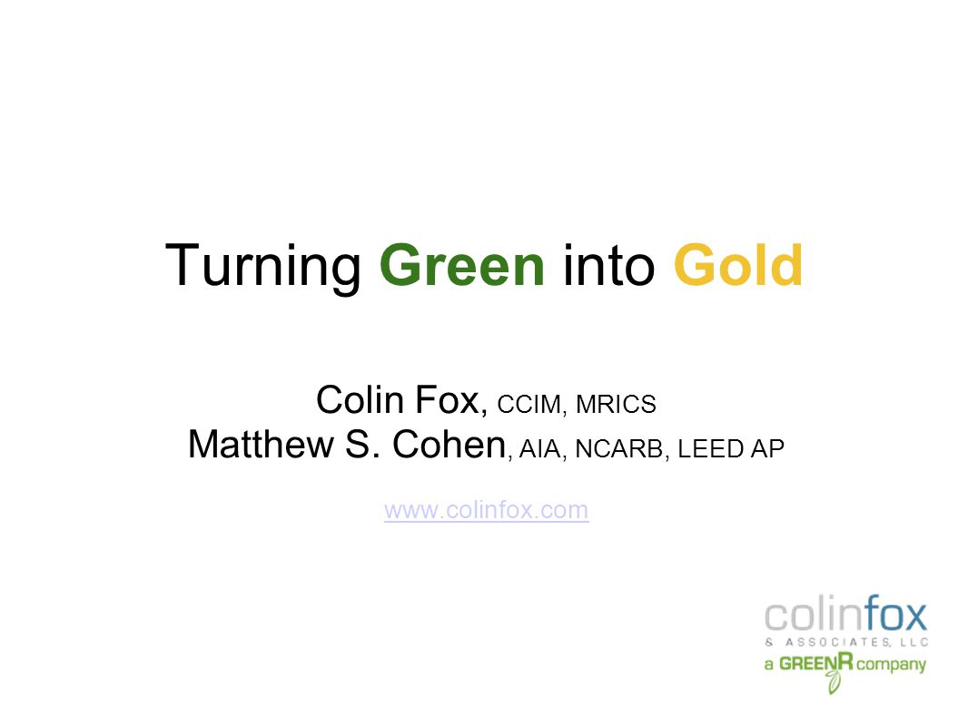 Turning Green into Gold Direct Rental Rates – Energy Star vs Non-Energy Star