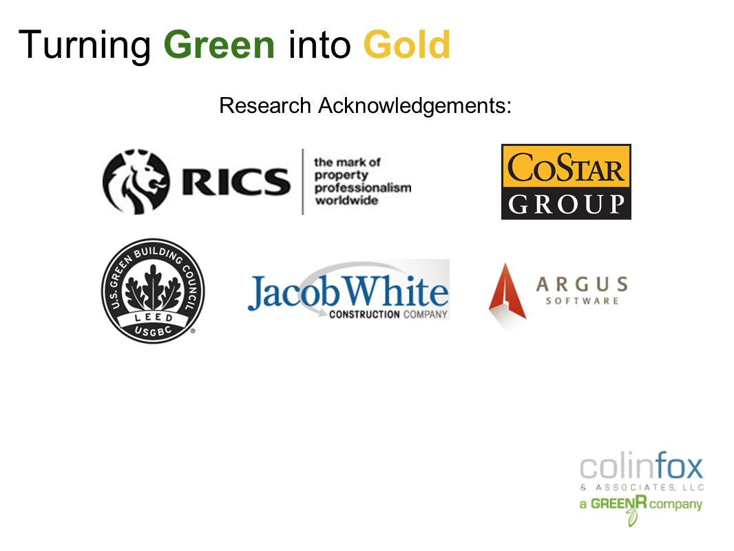 Turning Green into Gold Direct Rental Rates – LEED vs Non-LEED