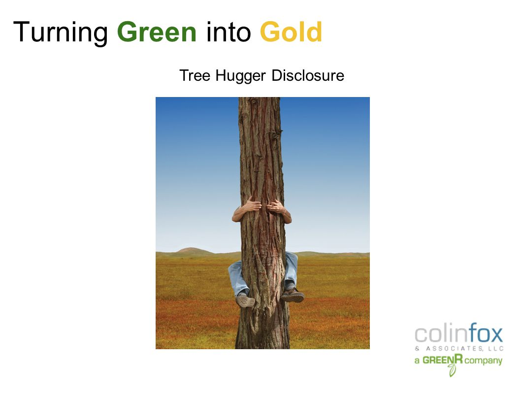 Turning Green into Gold Part I What is a GreenR Company.