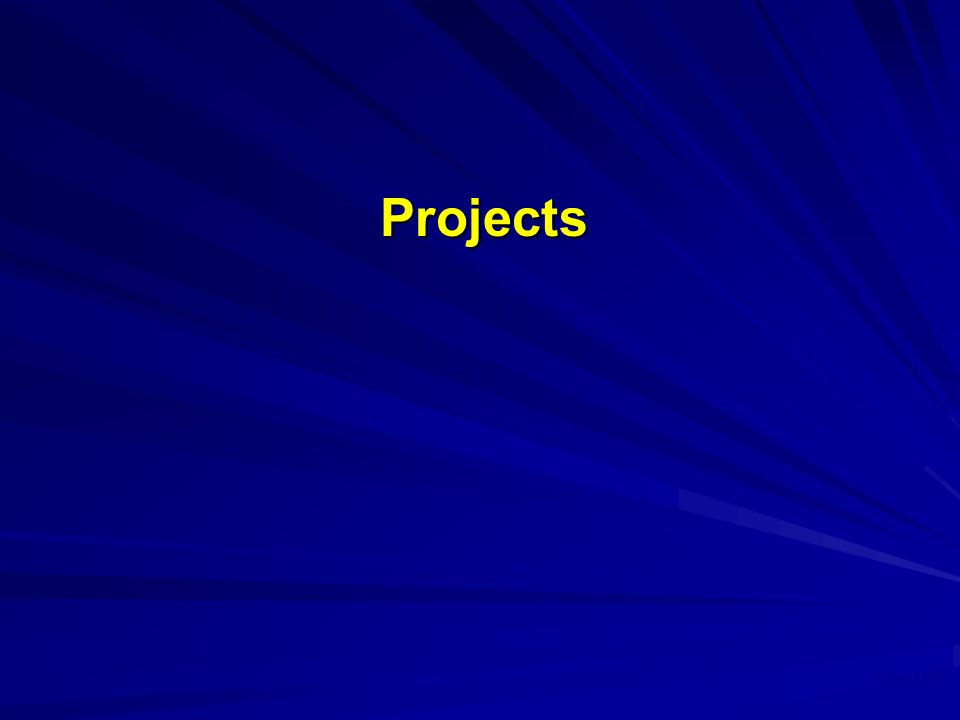 May 2008 Projects