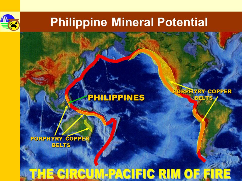 Philippine Mineral Potential Mineral Land Distribution (As % of Total Philippine Land Area) 30% or 9 Million Hectares Approximately 2% currently covered by permits High-Potential Low-Medium Potential 70%