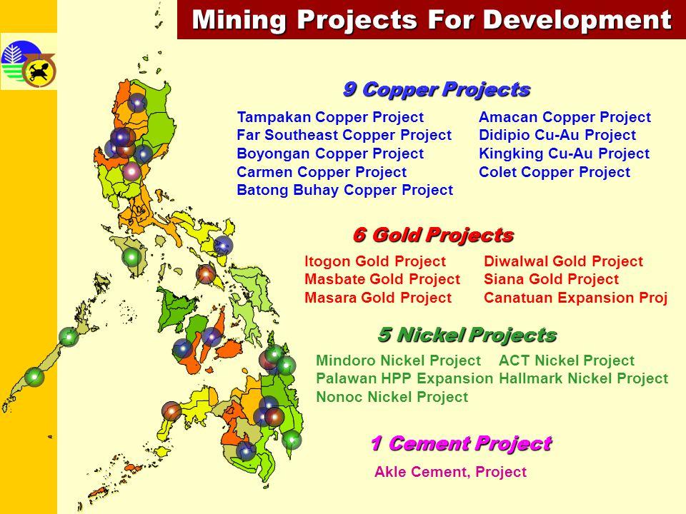STATUSPROJECT200620072008200920102011REMARKS OPERATING / EXPANSION Palawan HPP Rapu-Rapu Cu-Au-Zn Canatuan Ag-Au Teresa Gold Sto.