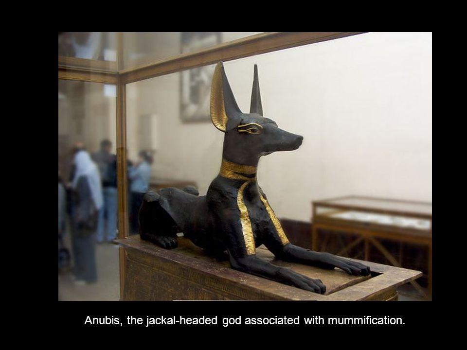 Golden statue of Horus