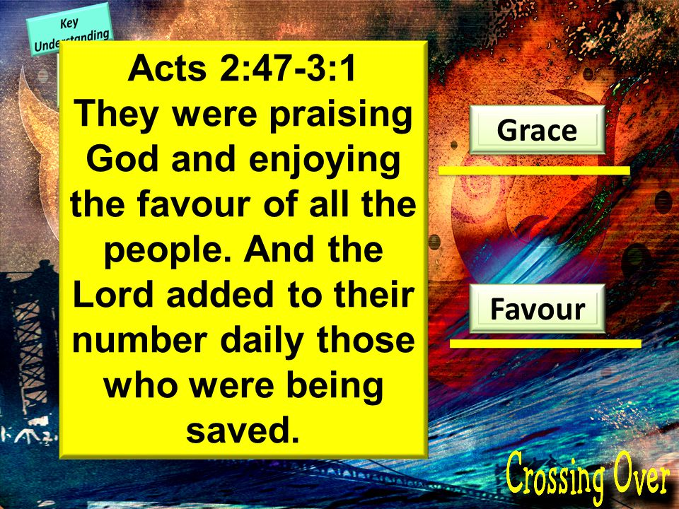 Charis Grace Favour Luke 1:30 But the angel said to her, Do not be afraid, Mary, you have found favour with God Acts 2:47-3:1 They were praising God and enjoying the favour of all the people.