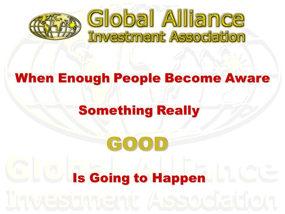 Q: I understand the concept of Global Alliance but why is it called an Investment Association.
