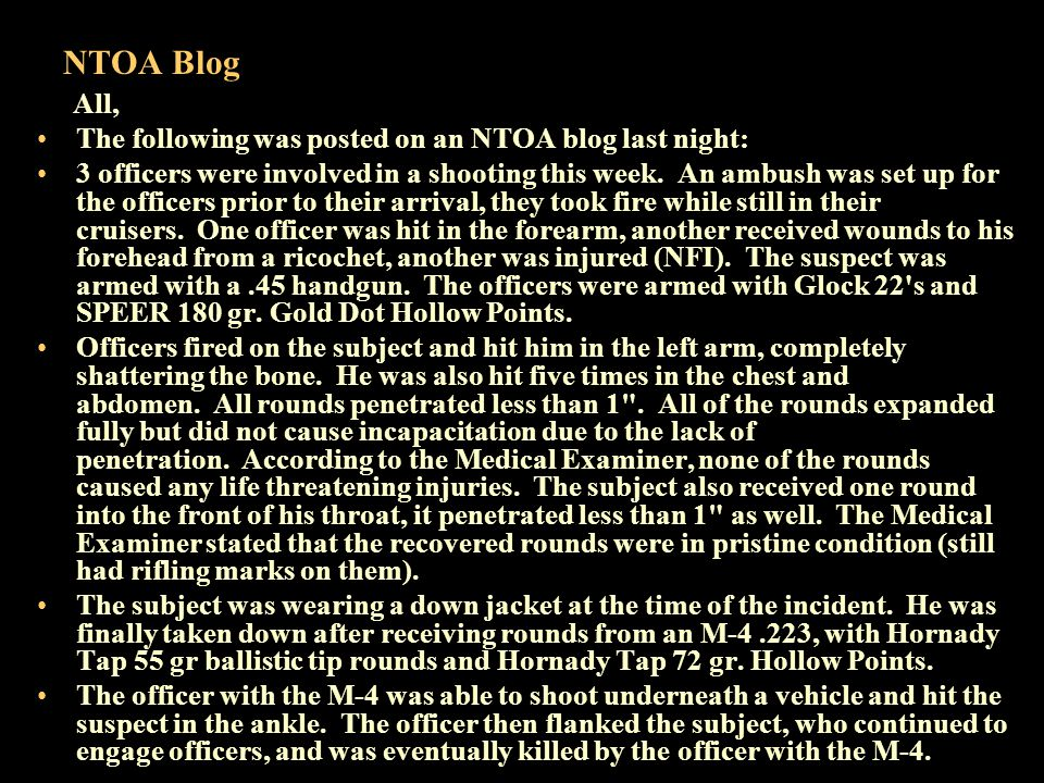 NTOA Blog The subject had a trace amount of marijuana in his system.
