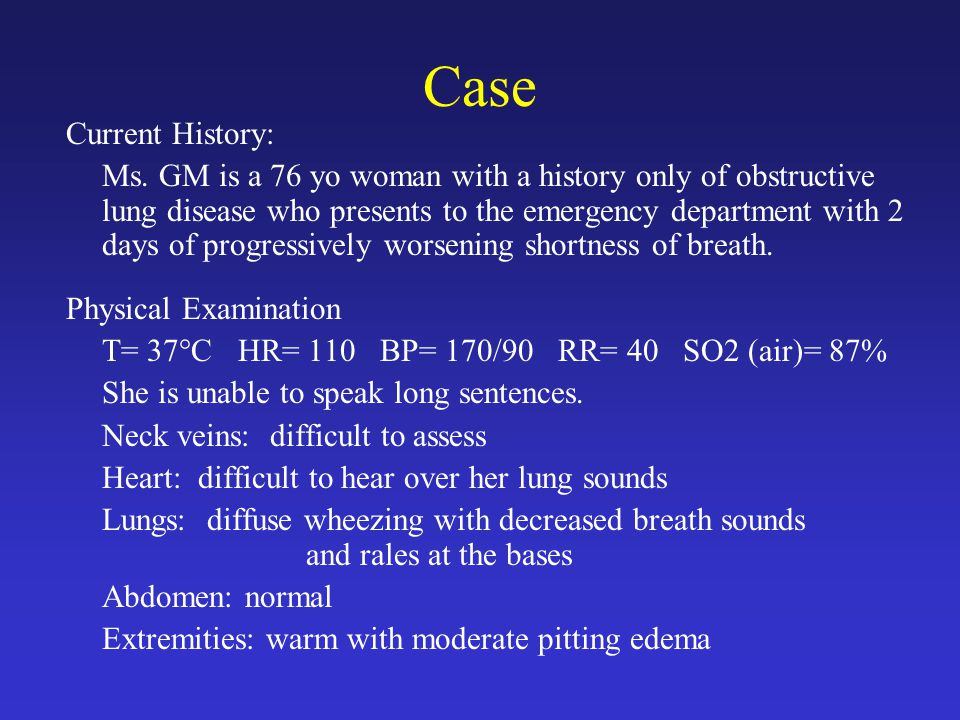 Case Current History: Ms.