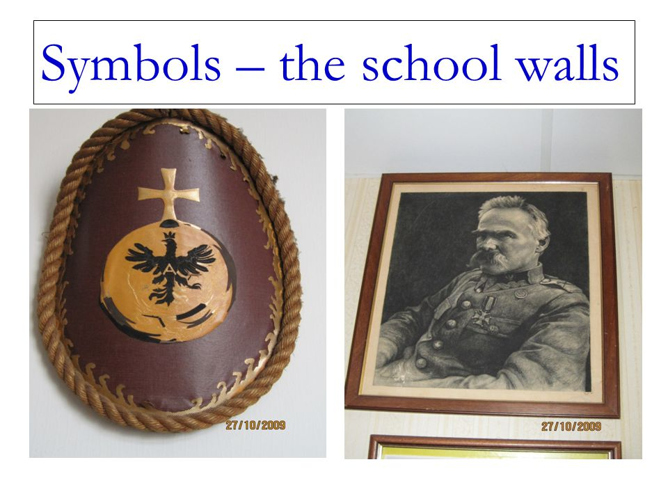Symbols – the school walls