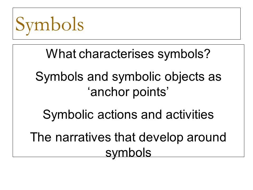 Symbols What characterises symbols.