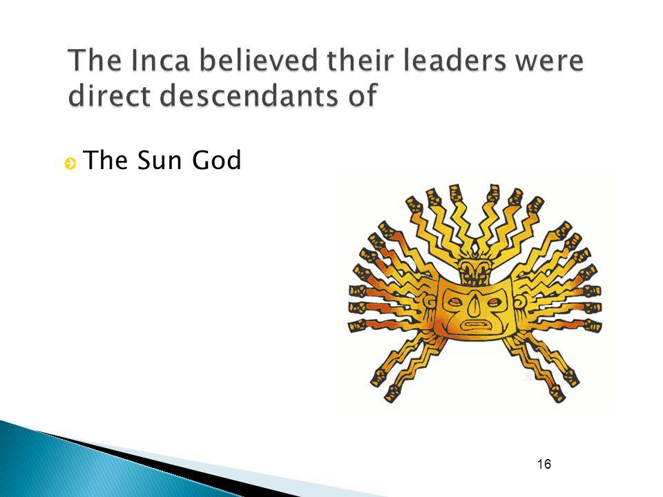16 The Sun God