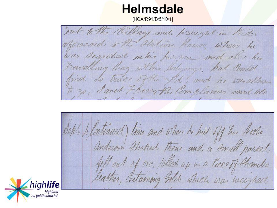 Helmsdale [HCA/R91/B/5/10/1]