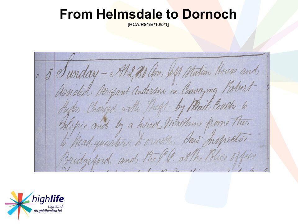 From Helmsdale to Dornoch [HCA/R91/B/10/5/1]