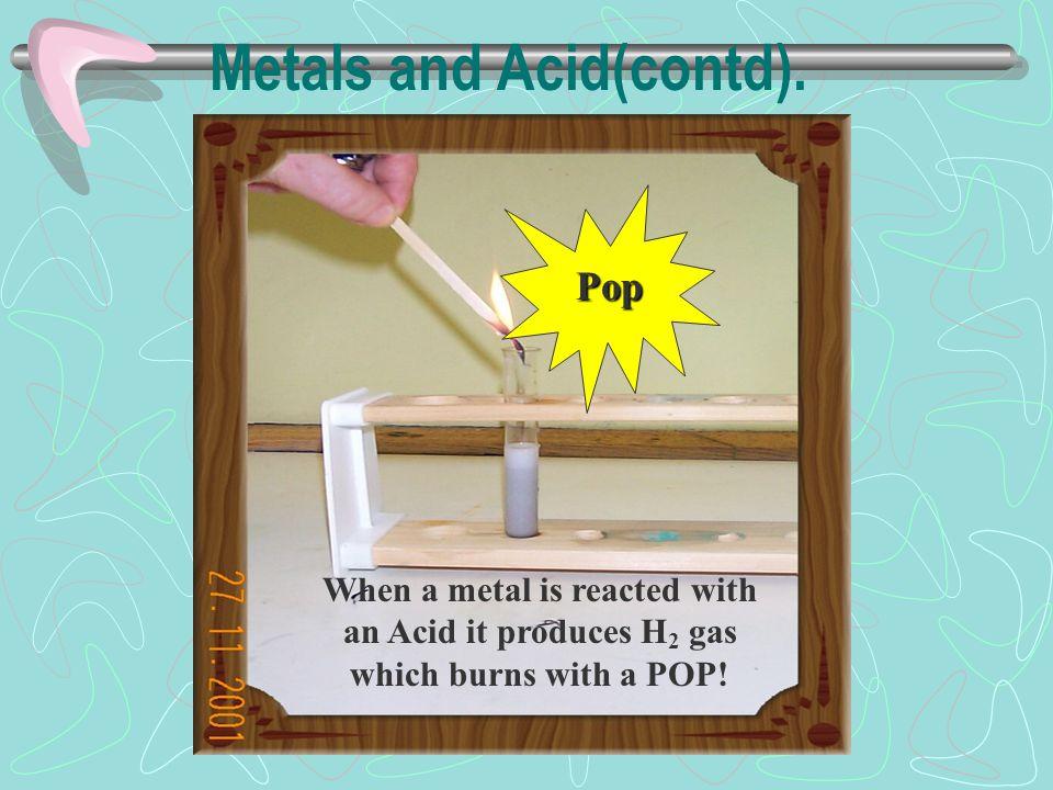 Metals and Acid(contd).