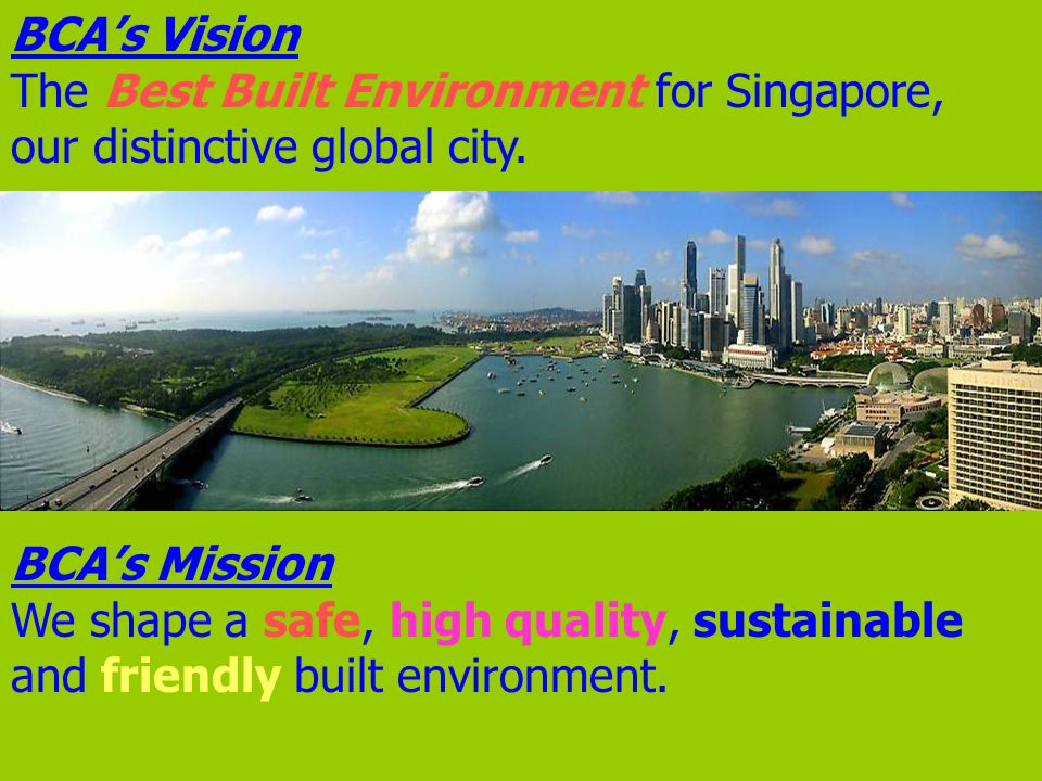 Key R&D Focus Areas Sustainable Development Distinctive Global City Community building - Energy efficiency in buildings - Indoor environment quality - Increasing land supply and land use optimisation - Impact of climate change on physical infrastructure - Land conservation - Tropical green architecture - Greenery and Ecology / biodiversity studies - Urban planning and design - Universal design