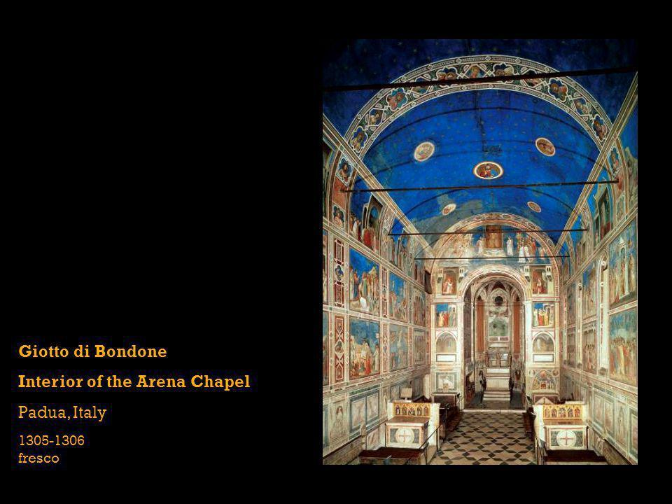Giotto di Bondone Interior of the Arena Chapel Padua, Italy 1305-1306 fresco
