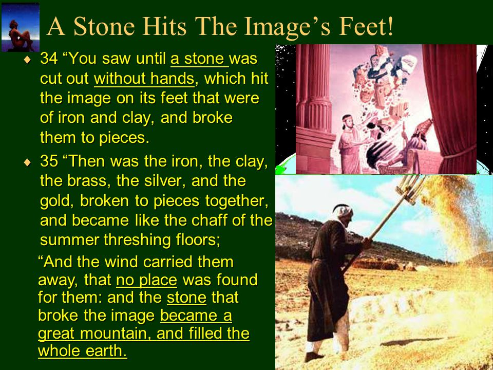 A Stone Hits The Images Feet.