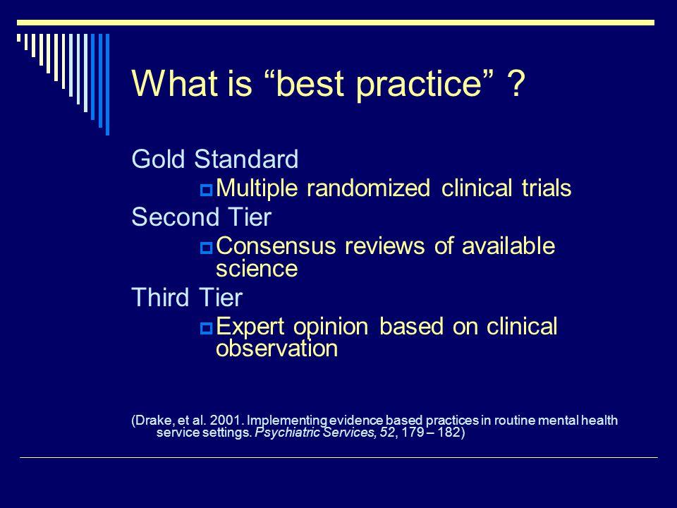 What is best practice .