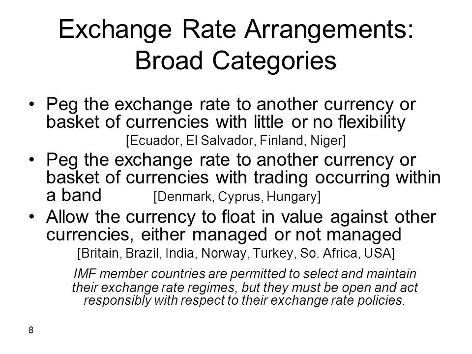 9 Exchange Rate Regimes: 2004 NO.