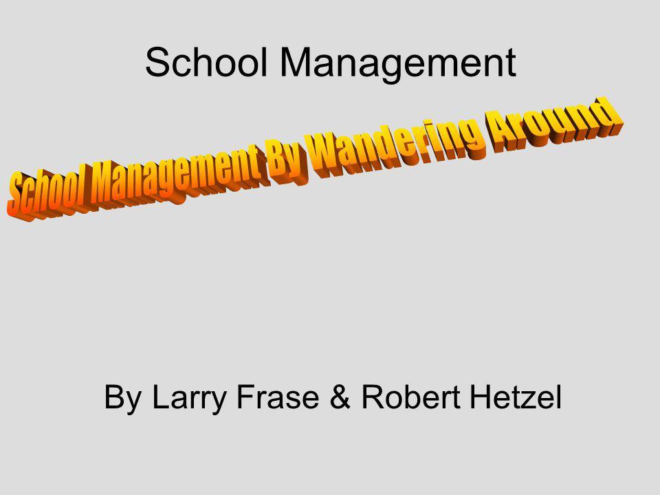 School Management By Larry Frase & Robert Hetzel