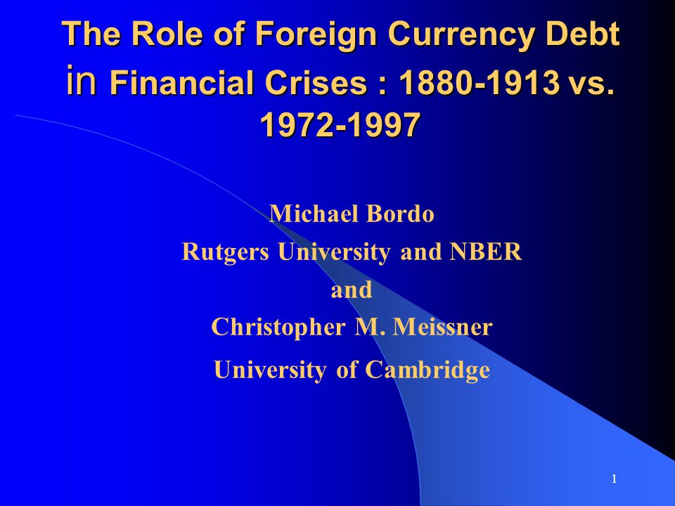 Table 5: Determinants of Banking Crises, 1880-1913