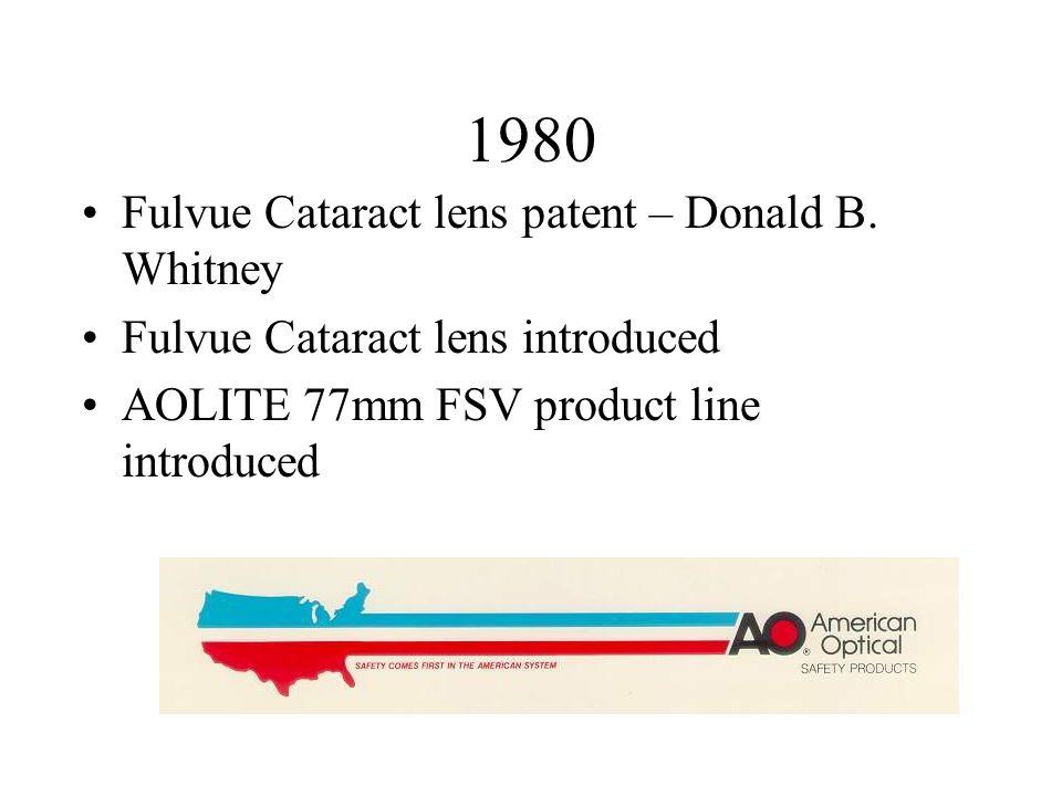 1980 Fulvue Cataract lens patent – Donald B.