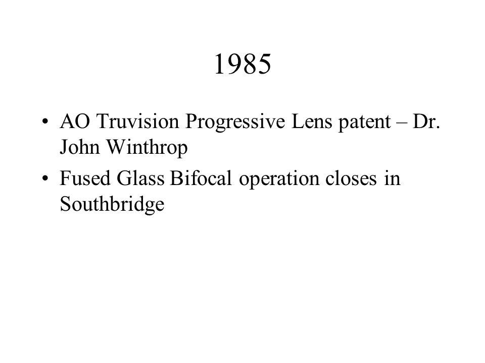 1985 AO Truvision Progressive Lens patent – Dr.