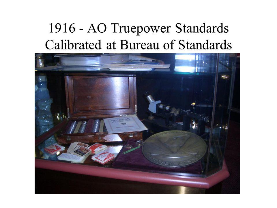 1916 - AO Truepower Standards Calibrated at Bureau of Standards