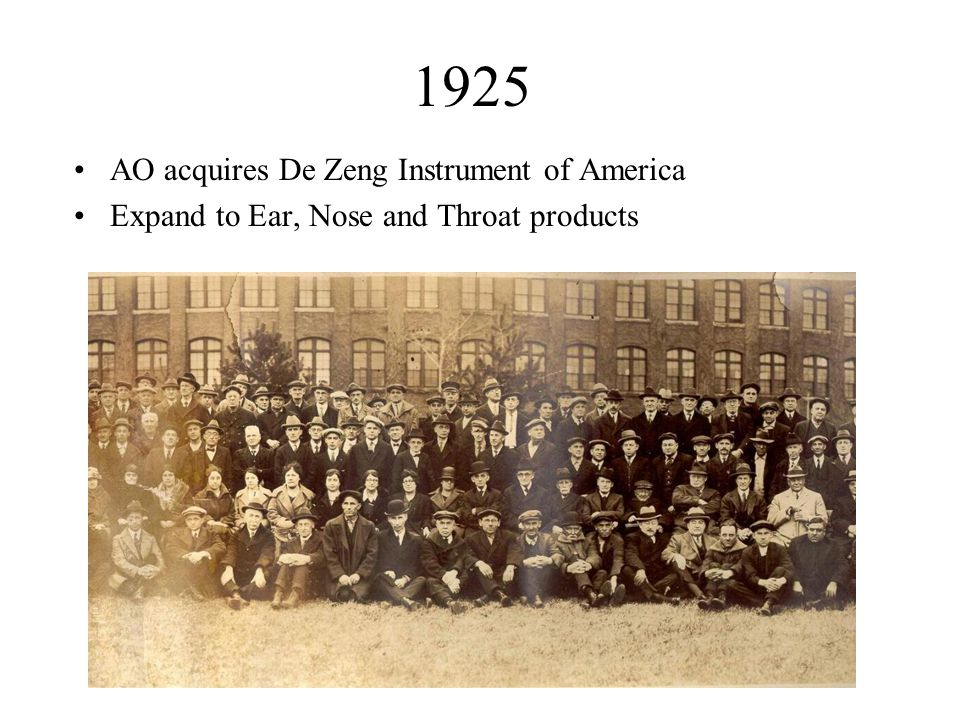 1925 AO acquires De Zeng Instrument of America Expand to Ear, Nose and Throat products
