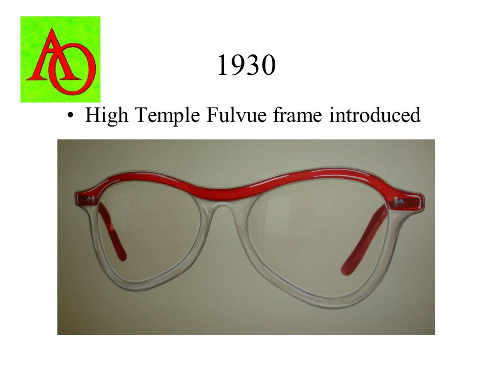 1930 High Temple Fulvue frame introduced