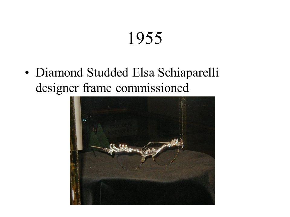 1955 Diamond Studded Elsa Schiaparelli designer frame commissioned