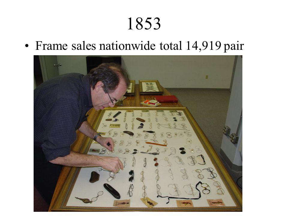 1853 Frame sales nationwide total 14,919 pair