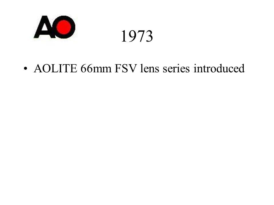 1973 AOLITE 66mm FSV lens series introduced