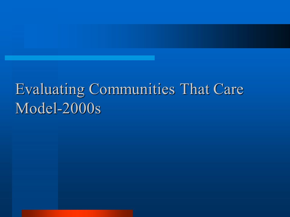 Evaluating Communities That Care Model-2000s