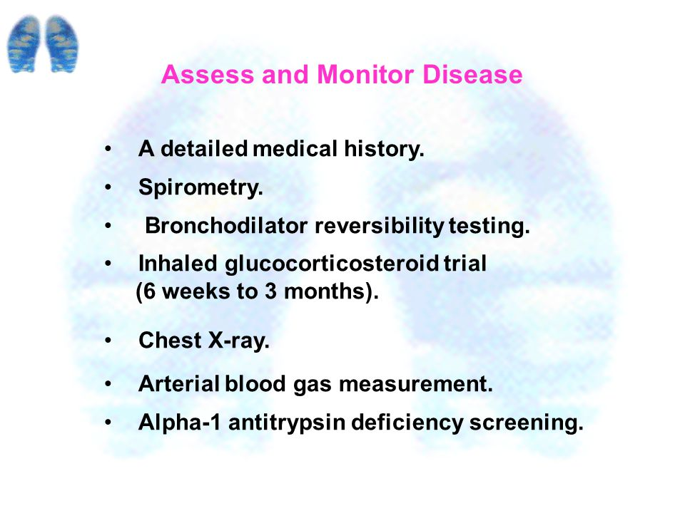 1.Assess and Monitor Disease 2. Reduce Risk Factors 3.