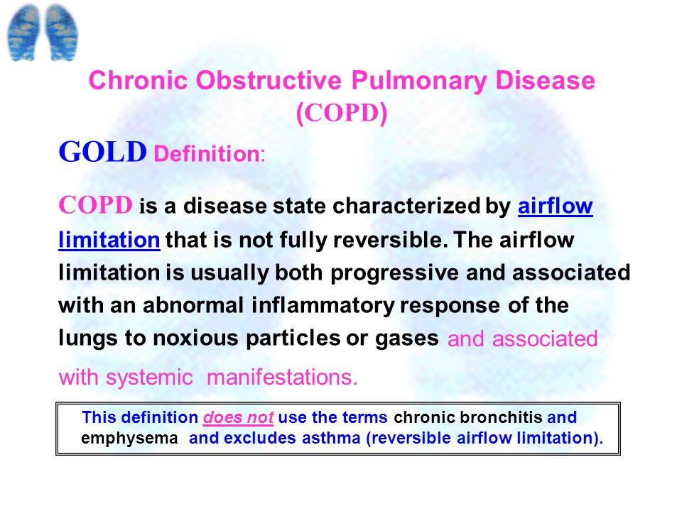 Burden Of COPD Most epidemiological studies have found that COPD prevalence,morbidity and mortality increase over time and are greater in men than in women.