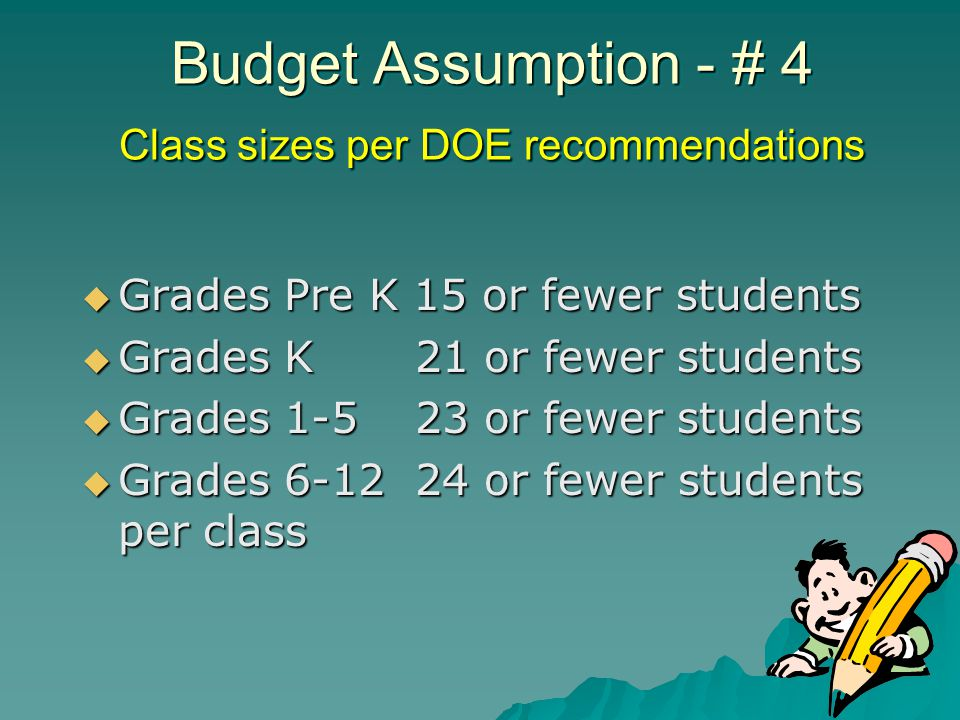 Budget Assumption # 15 Progress in reducing workers compensation costs = less time taken away from providing education services to our students