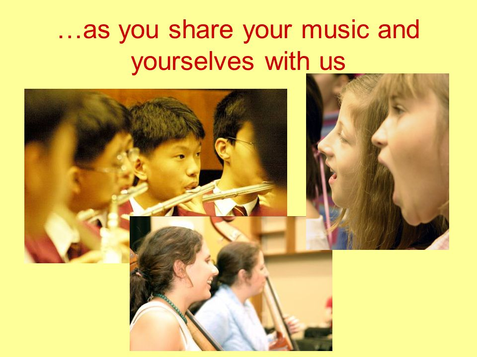 …as you share your music and yourselves with us