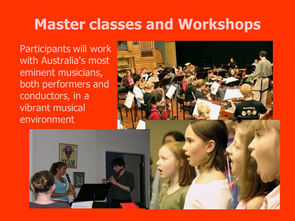 Southern Cross – inclusions and options Artistic and Cultural provisions: A 60-minute Ensemble Workshop at the Queensland Conservatorium A 90-minute instrument Master class with staff from Queensland Conservatorium Griffith University and the leading professional performers from Brisbane.