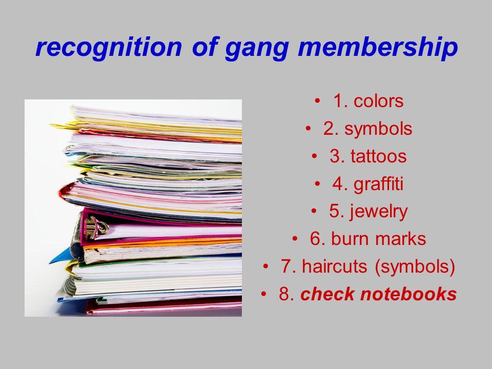 gangs What graffiti says: 1.gangs present 2. territory 3.