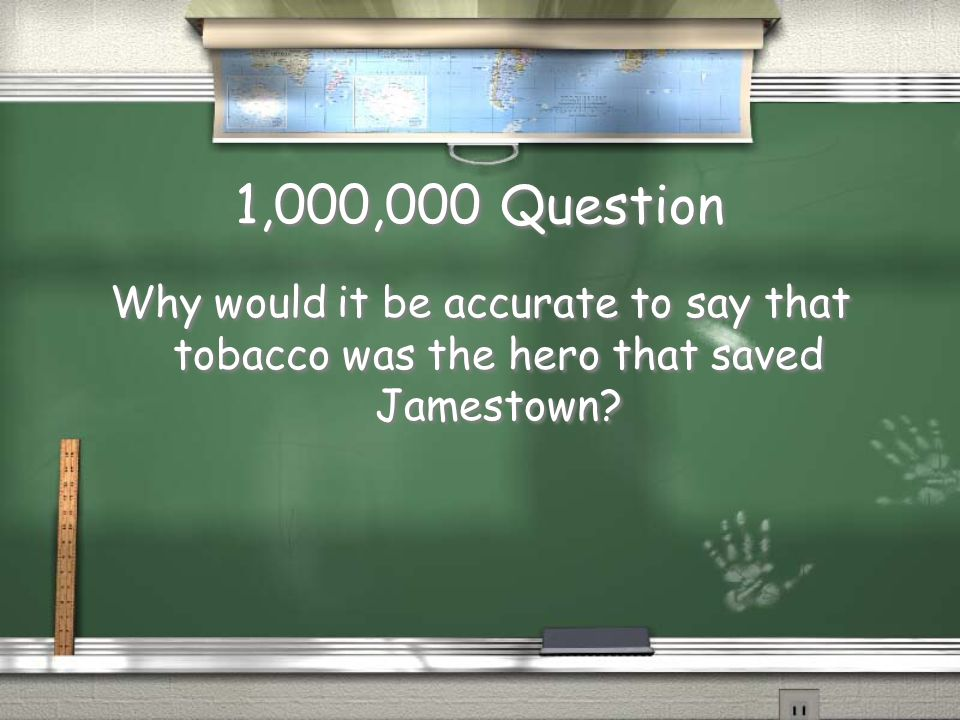 Million Dollar Question No assistance may be used on this question. Good Luck! No assistance may be used on this question. Good Luck!