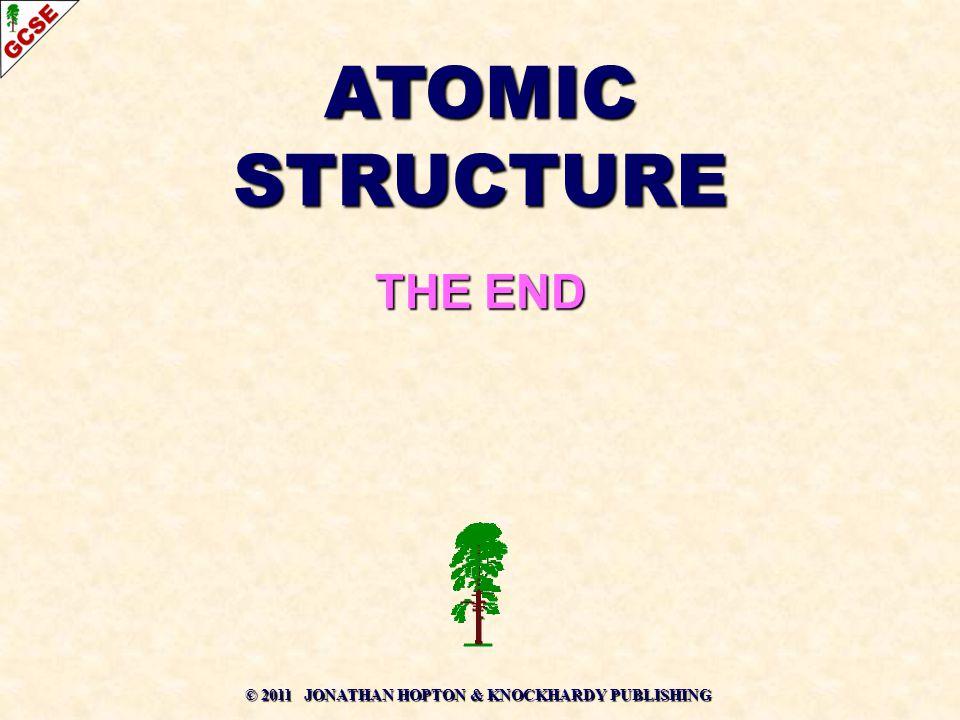 © 2011 JONATHAN HOPTON & KNOCKHARDY PUBLISHING ATOMIC STRUCTURE THE END