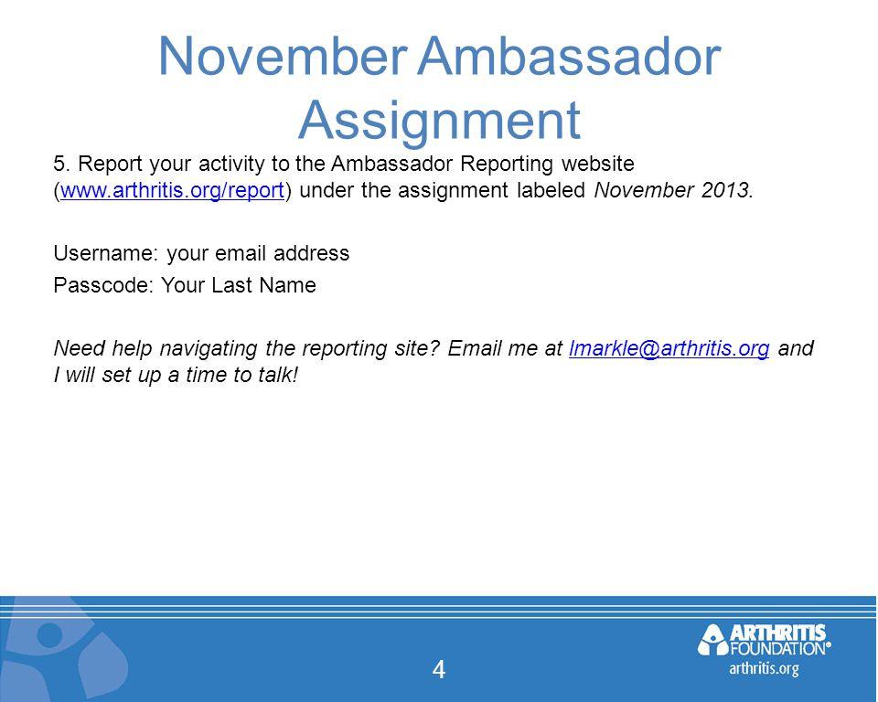 November Ambassador Assignment 4 5.