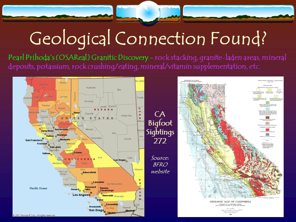 Geological Connection Found.