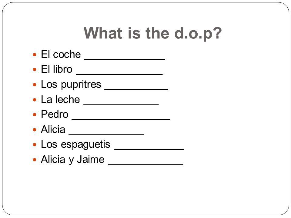 What is the d.o.p.