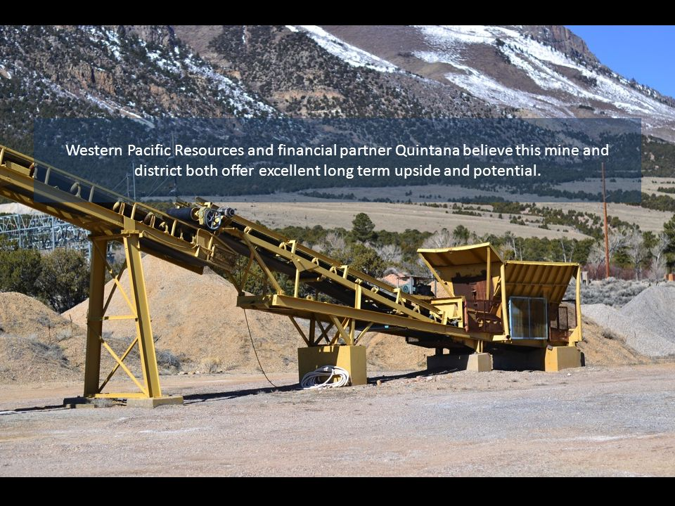 The Company plans to rehabilitate the primary working areas, upgrade the electrical, perform underground drilling to expand upon the known areas of mineralization, and construct a tailings pond.