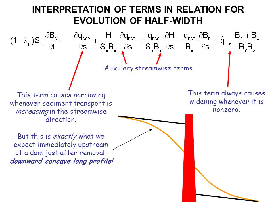 INTERPRETATION OF TERMS IN RELATION FOR EVOLUTION OF HALF-WIDTH This term always causes widening whenever it is nonzero.