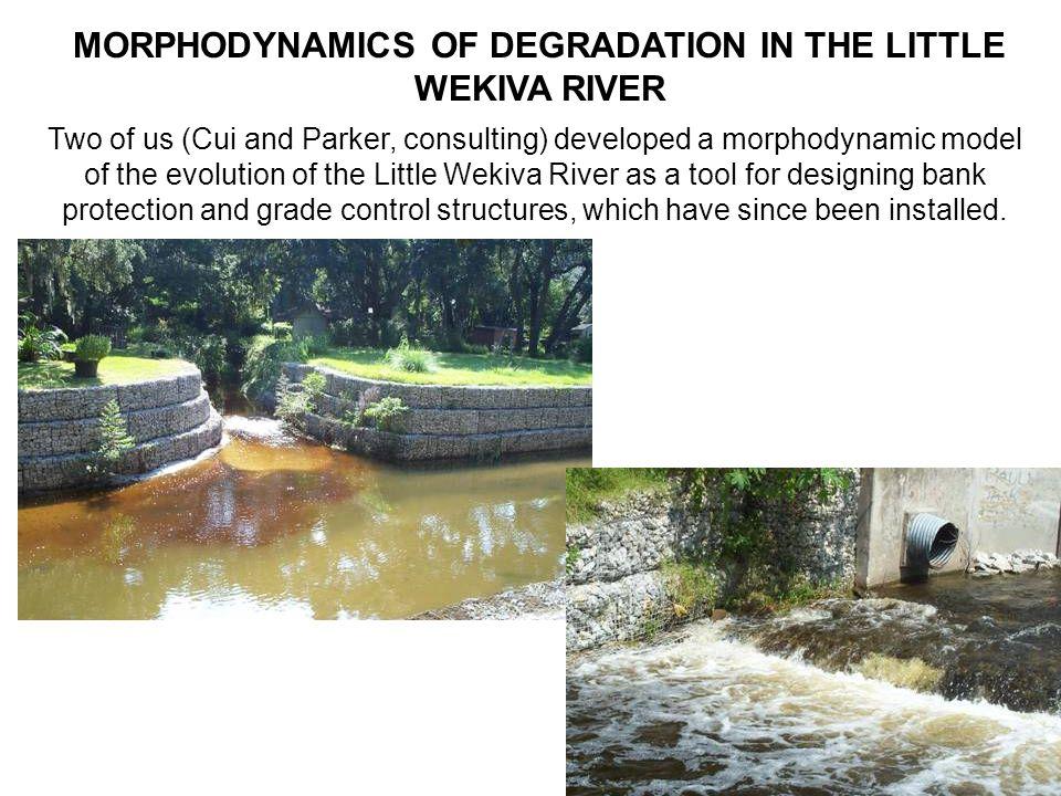 EVOLUTION OF CENTERLINE PROFILE UPSTREAM (x 9 m) OF THE DAM Upstream degradationDownstream aggradation Former dam location