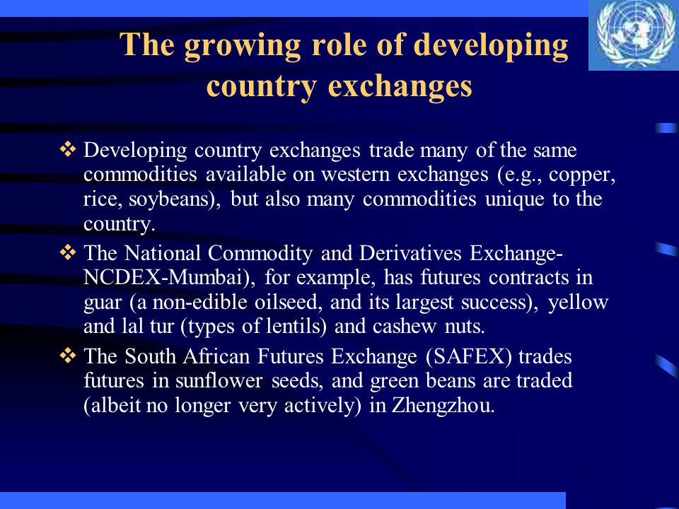 Exchanges in Eastern Europe Hungary The Budapest Commodity Exchange, created in 1989, which trades in financial futures as well as grains and livestock, has been quite successful.