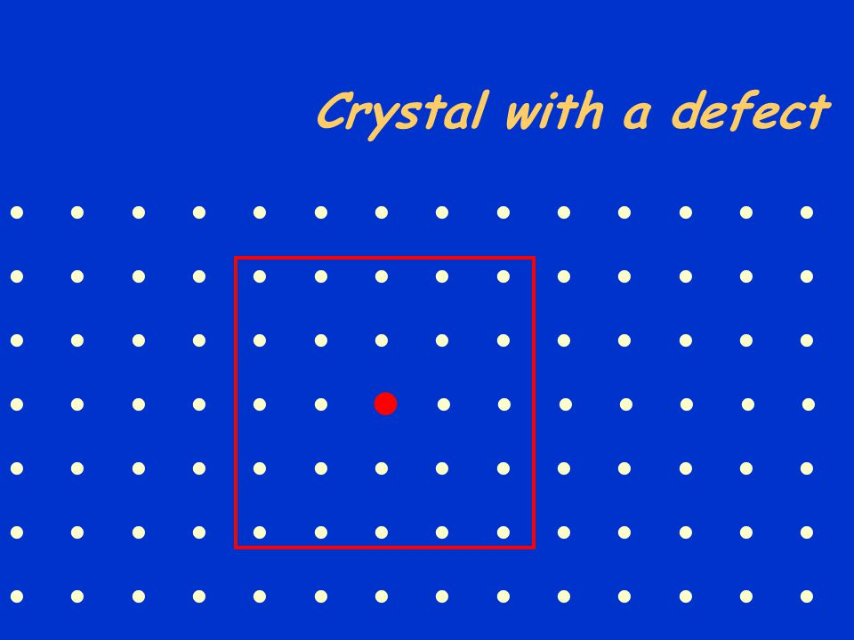 Crystal with a defect